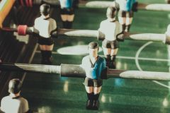 Closeup of soccer table football players Royalty Free Stock Photography