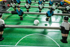 Closeup of soccer table football players Stock Photography
