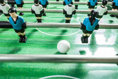 Closeup of soccer table football players Stock Photo