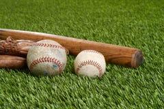 Closeup soft ball and hardball Royalty Free Stock Image