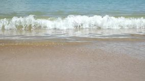 Soft wave of the sea on the sandy beach stock footage