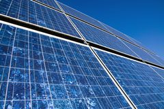 Closeup of a solar panel stock photos
