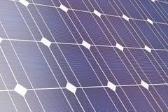 Closeup of solar panel. 3D illustration Royalty Free Stock Photography