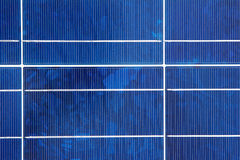 Closeup of a Solar Panel Module Stock Photo