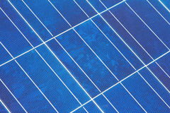 Closeup of a Solar Panel Module Diagonal Royalty Free Stock Image