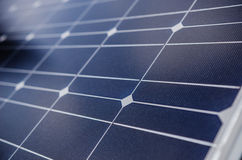 Closeup of solar panel in a mountain region Royalty Free Stock Photo