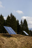 Closeup of solar panel in a mountain region Royalty Free Stock Photos