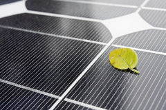 Closeup of Solar Panels Stock Images