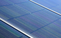 Closeup of Solar Panels Stock Photos