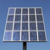 Closeup of solar panels and blue sky Stock Photo