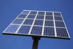 Closeup of solar panels and blue sky Stock Photos