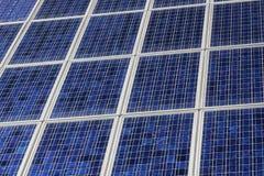 Closeup of solar panels close together Stock Images