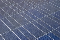 Closeup on solarcell. A closeup on a solar cell Royalty Free Stock Photography