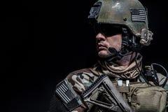Closeup soldier portrait Royalty Free Stock Image