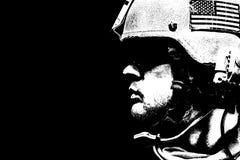 Closeup soldier portrait Stock Photography
