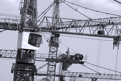 Closeup of some cranes Royalty Free Stock Images