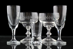 Closeup of some glasses Stock Photography
