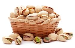 Closeup of some roasted pistachio royalty free stock photo