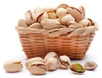 Closeup of some roasted pistachio stock photo