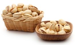 Closeup of some roasted pistachio royalty free stock images