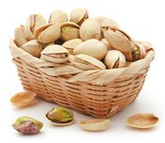 Closeup of some roasted pistachio stock photography