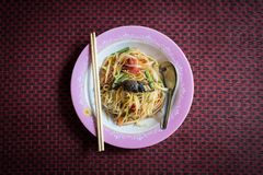 Somtum food style of Thailand. Closeup of somtum food style from Thailand stock photography