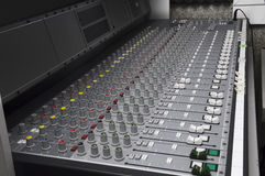 Closeup the sound board Royalty Free Stock Image