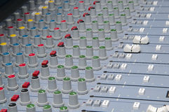 Closeup the sound board Stock Photography