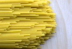Closeup spaghetti italian style. Closeup yellow spaghetti italian style Royalty Free Stock Image