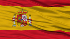 Closeup Spain Flag. Waving in the Wind, High Resolution Stock Images