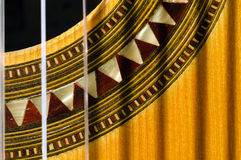 Closeup of a Spanish Guitar. Closeup of a classical guitar Stock Image