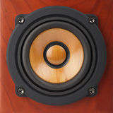 Closeup of speaker. Closeup of  old brick-red speaker Royalty Free Stock Image