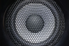 Closeup of speaker Royalty Free Stock Images