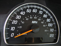Closeup of a speedometer Royalty Free Stock Photography