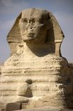 Closeup of the Sphinx, Cairo, Egypt Travel. Closeup of the Sphinx showing details of the face. The Sphinx is located in Giza outside of Cairo. Egypt is a popular Royalty Free Stock Photos