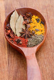 Closeup spice mix Stock Photo