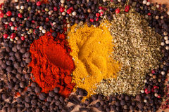 Closeup of spices composition Stock Photography