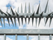 Closeup spiked fence Stock Photography