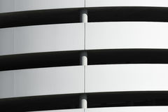 Closeup of a spiral driveway. Into a multi storey car park stock photos