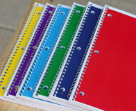 Closeup of Spiral Notebooks on a Desk Royalty Free Stock Photo