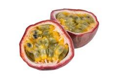 Closeup of a split passion fruit Stock Photography