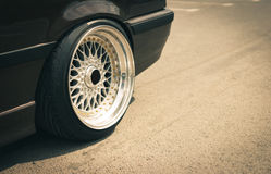 Closeup of sport car rims Stock Photos