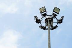 Closeup of sport light post Stock Photo