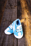 Closeup of sporty  baby shoes Royalty Free Stock Photography