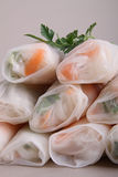 Closeup on spring roll Royalty Free Stock Photography