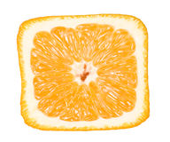 Closeup of square orange, Stock Image