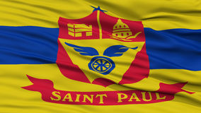 Closeup St Paul Flag Royalty Free Stock Photos