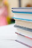 Closeup of stack of books Royalty Free Stock Image