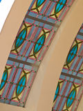 Closeup of stained glass roof. As background Royalty Free Stock Photos
