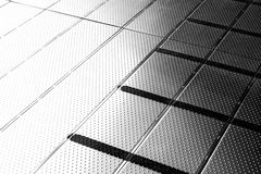 Closeup Stainless pattern floor Royalty Free Stock Photography